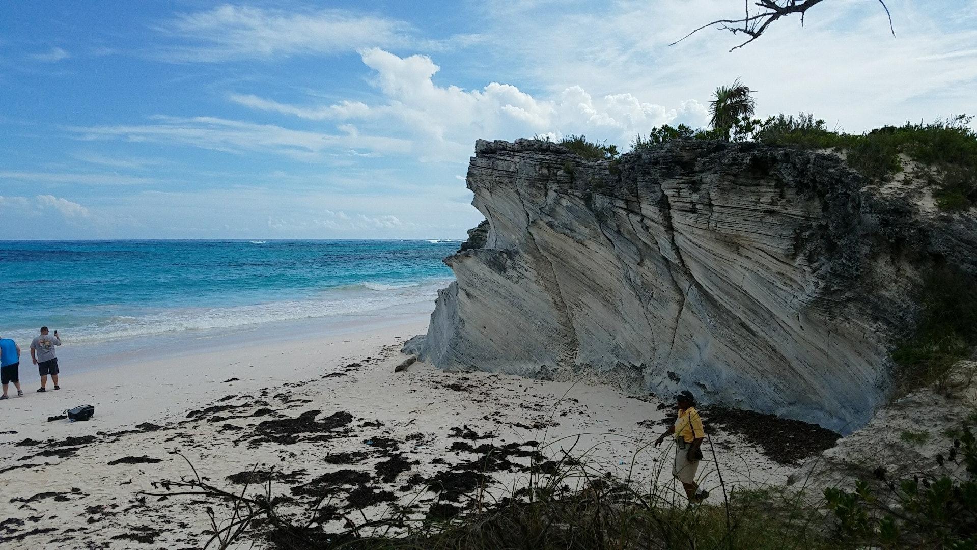 Limestone Cliffs on South Eleuthera
